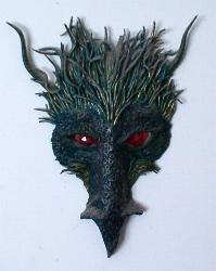 Green Dragon Mask - Clay