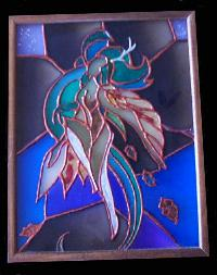 Wind Spirit - Painted Glass